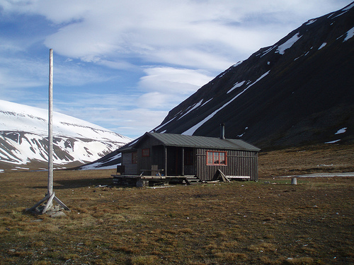 The studentcabin in Bjørndalen/Bjorndalen, Svalbard